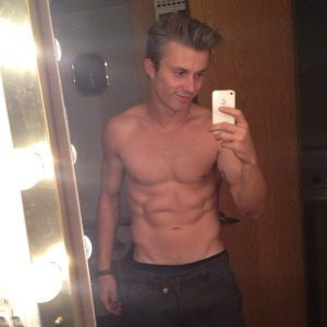 Actor Kenny Wormald Shirtless